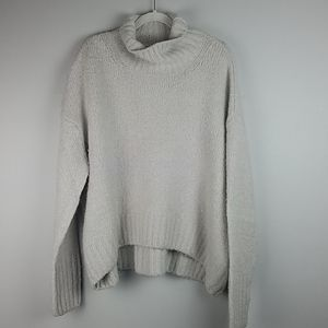 H&M Oversized Wool Blend Grey Cowl Neck Sweater